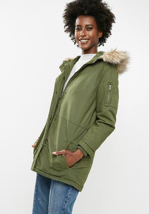 Cotton On Sophie Parka - Green Jackets Green