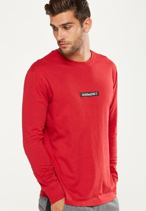 Cotton On Tbar Long Sleeve - Red T-Shirts & Vests Red