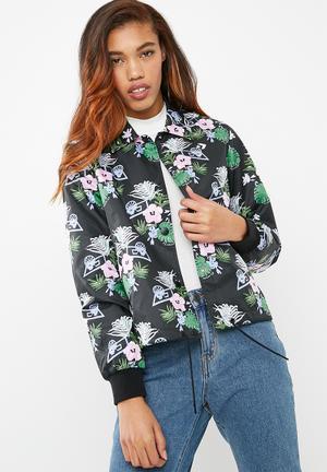 9234303ed8295a Palm print coaches jacket - black