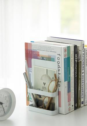 Tower bookends - white