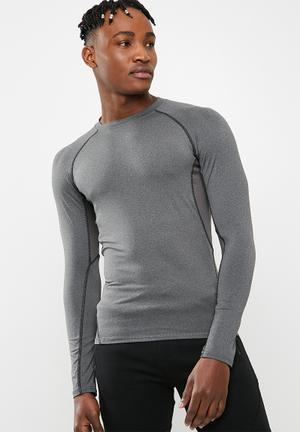 Poly stretch panel tee - grey