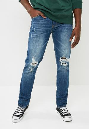 Slim ripped jeans - blue