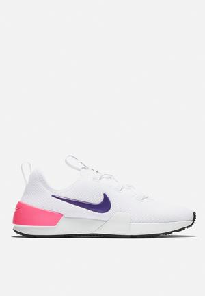 Ashin Modern White Court Purple Laser Pink