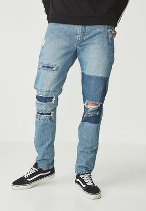 Tapered leg jeans - blue