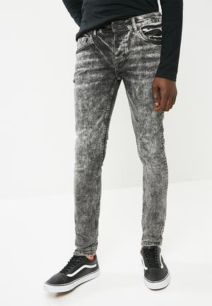 Feather slim fit jeans - black