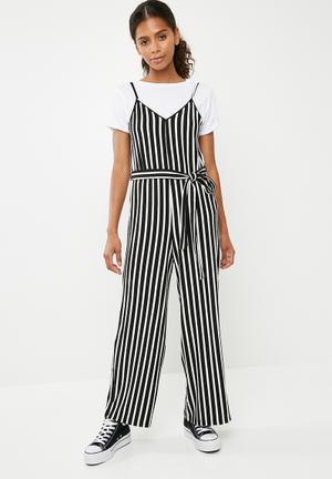 Culotte jumpsuit - black & white