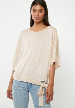 b51a02166d8 Cut   sew scarf top - beige
