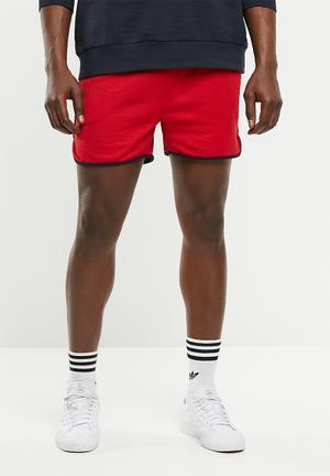 Rudi sweat shorts - red