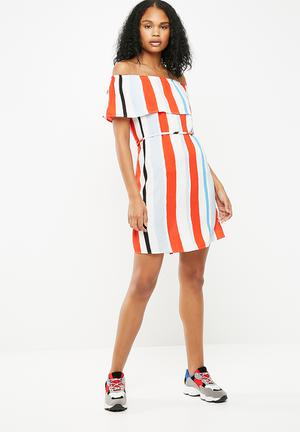 Darla off shoulder dress - multi