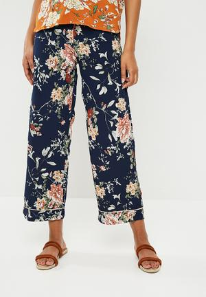Terra wide woven pants - blue