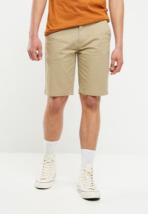 Slim chino shorts - beige