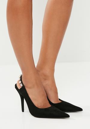 eb918a2dc1fc Greta stiletto pump - rose gold. By Superbalist R349. Add to wishlist.  Viola jewelled strap heel - black