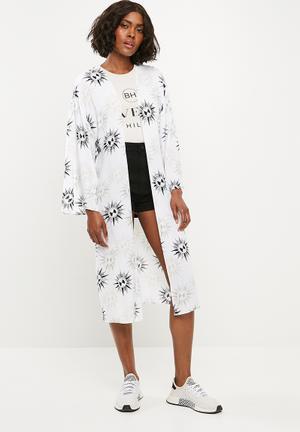 7f0436f7d0 Sun print kimono - cream   black