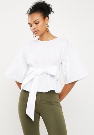 Poplin blouse - white