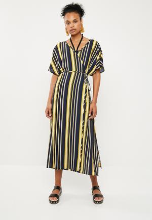 67e82ece5d3 Kimono sleeve wrap cover up - multi