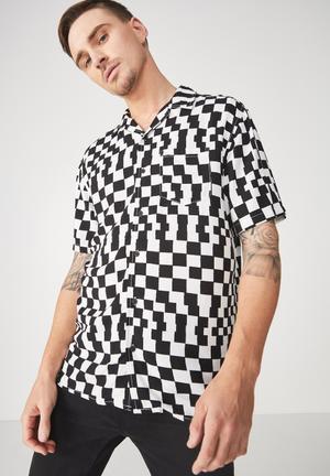 Festival shirt - black & white