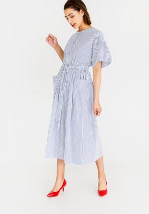 Fit And Flare Dress Blue