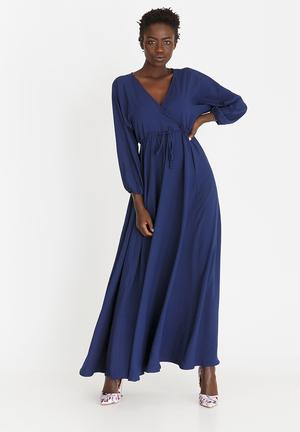 1d30be2460 By AMANDA LAIRD CHERRY R995. Quick View. Eleonora Satin-like Maxi Dress Blue