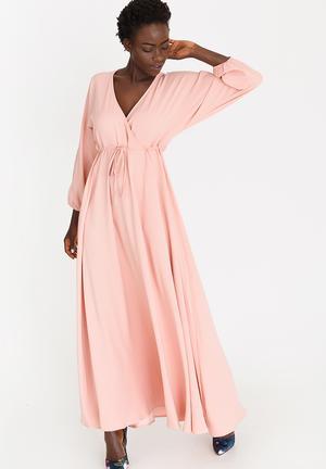 d93337e665 Eleonora Satin-like Maxi Dress Pale Pink