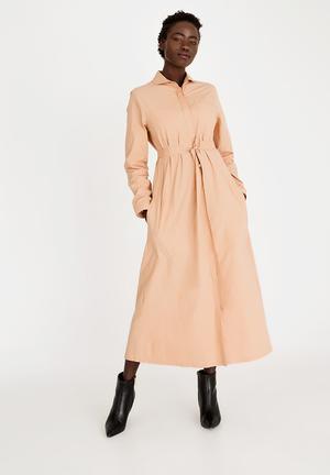 896ce7d91459 Abongile Shirt Dress Peach
