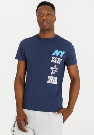 289c1fb9863fe5 Tommy Jeans Basic T-shirt Gold. By Tommy Hilfiger R559. Quick View. Multi  Hit Tee Navy