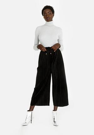 Velour Culottes Black