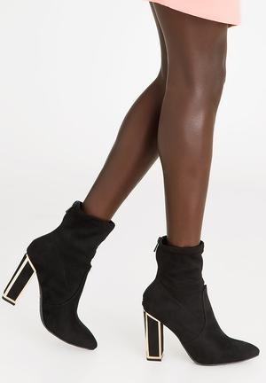 45c300b557e Carmen Block Heeled Ankle Boots Black