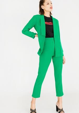 Highwaisted Structured Trouser Green