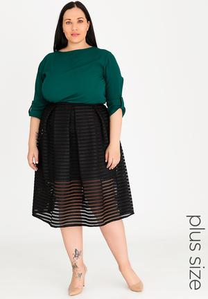 34c0a1431df By edit Plus R299. Midi Pleated Skirt Black