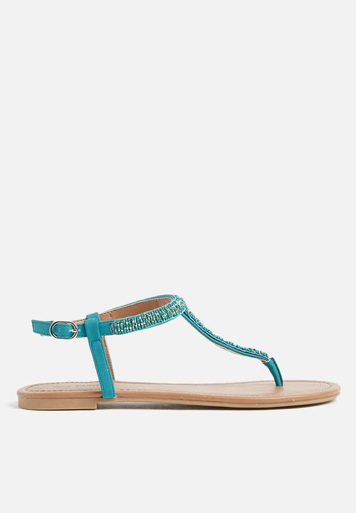cb88aa5f93bc Abienna flat sandal -teal Call It Spring Sandals   Flip Flops ...