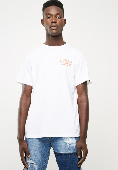 3ea654a10a Full patch tee- white flame Vans T-Shirts   Vests