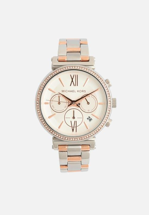 794c1533278c Sofie MK6558 2 tone - silver rose gold Michael Kors Watches ...