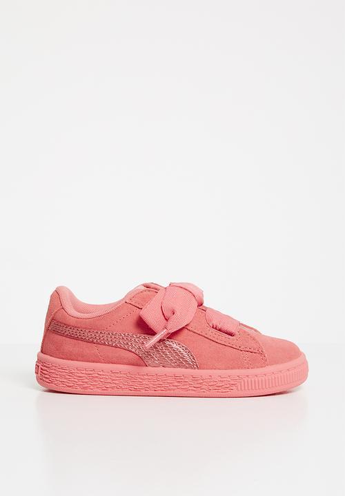 Suede Heart Sneaker Infants - shell pink PUMA Shoes  8a9e3f960
