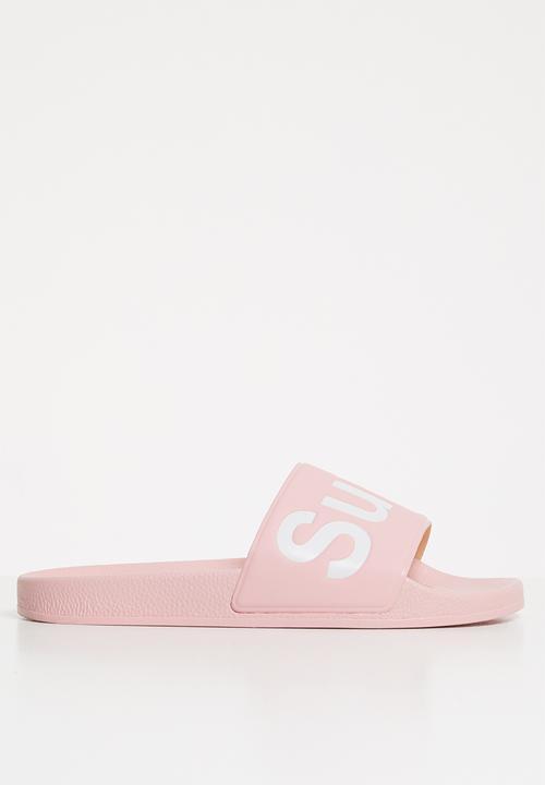1908 puu soft slide - pink SUPERGA