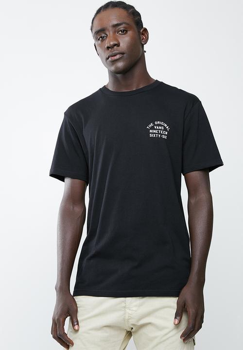57d55616f Vans spring training tee - black and white Vans T-Shirts & Vests ...