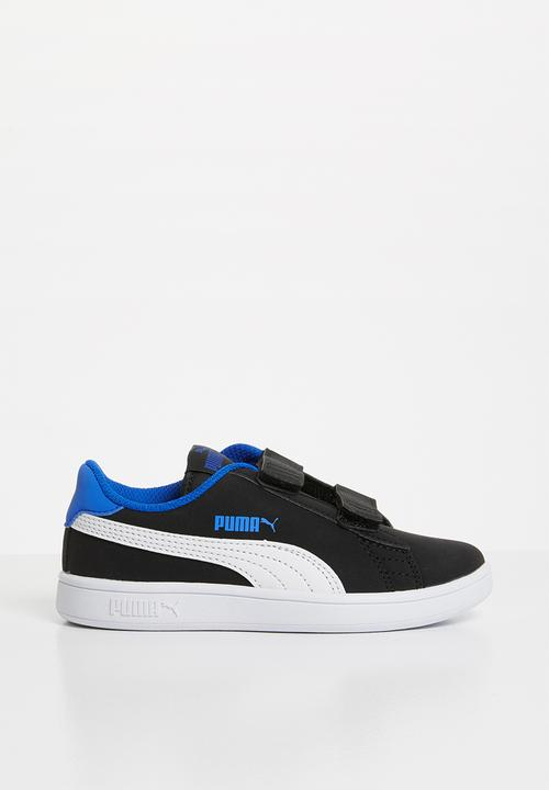 694a6a5cdaa656 Smash v2 buck sneaker - black PUMA Shoes