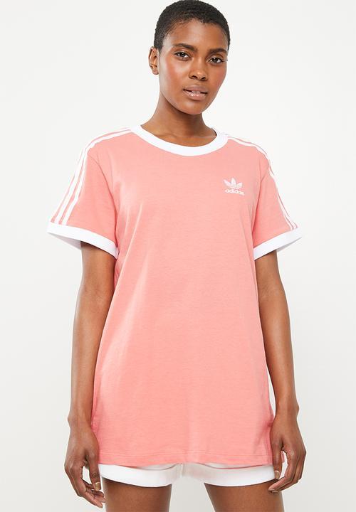 check out 5ad40 7b7e6 adidas Originals - 3 stripes tee - peach
