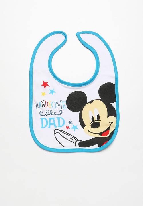 37701148762 Mickey Mouse Jersey Bib Multi-colour Character Baby Accessories ...