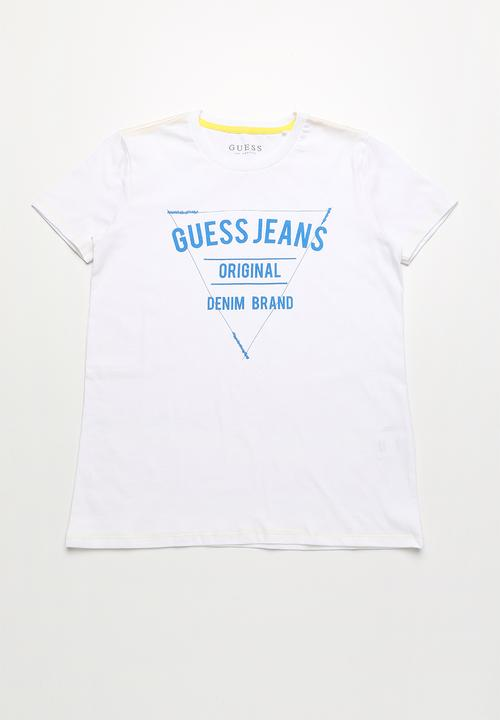 a0d500f4c Guess jeans original denim brand tee - white GUESS Tops ...