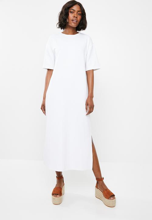 midi t shirt dress with slits