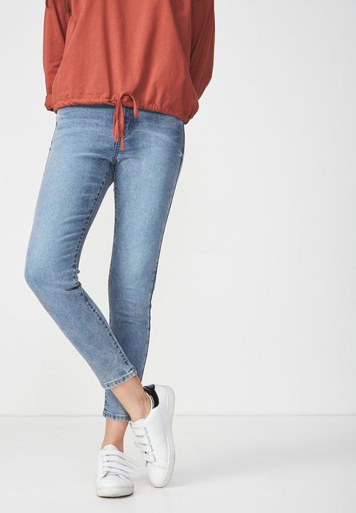 155131beb3 High rise grazer skinny jean-mid blue Cotton On Jeans | Superbalist.com