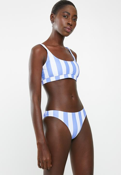 25826771a80d Stripe two piece bikini set - blue Lithe Bikinis | Superbalist.com