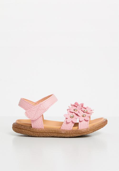 d1140f4b9 Kids flower detailed sandal - mid pink POP CANDY Shoes