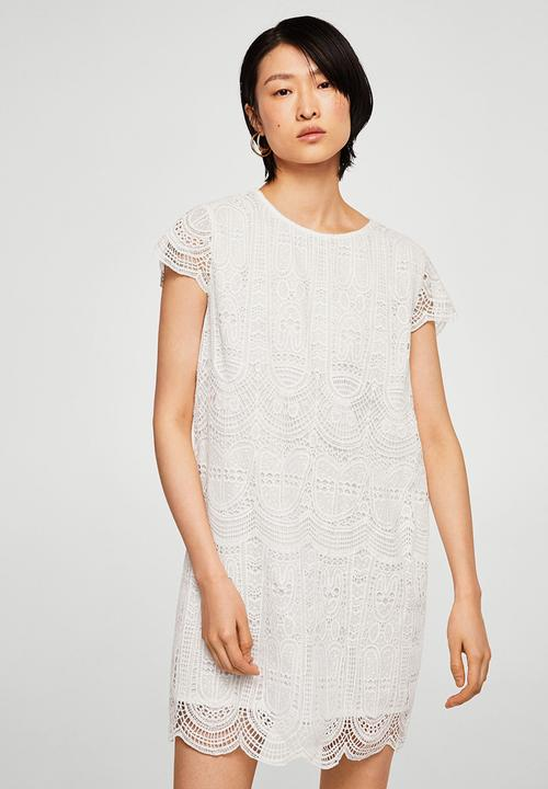 b5adc98a689f Open-work dress - white MANGO Casual