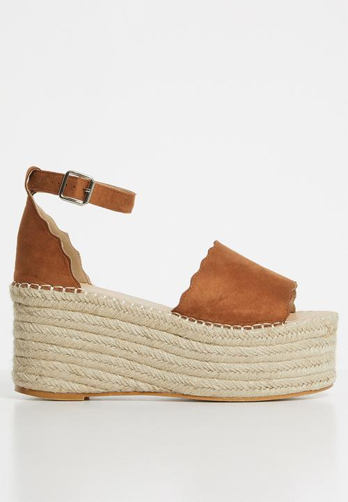 09a8853ea120 Gemma espadrille flatform - tan Superbalist Heels
