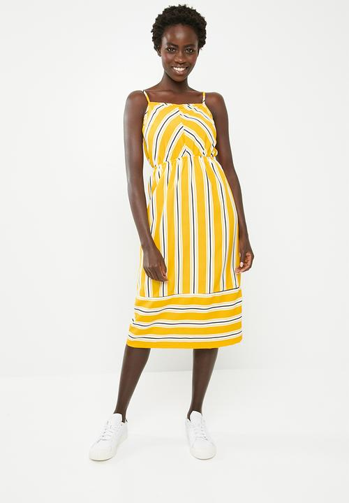8aa628637d11 Strappy Summer Dress Yellow STYLE REPUBLIC Casual