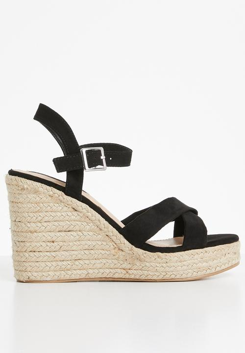 fa183a5ab1 Cali espadrille wedges - black Cherry Collection Heels   Superbalist.com
