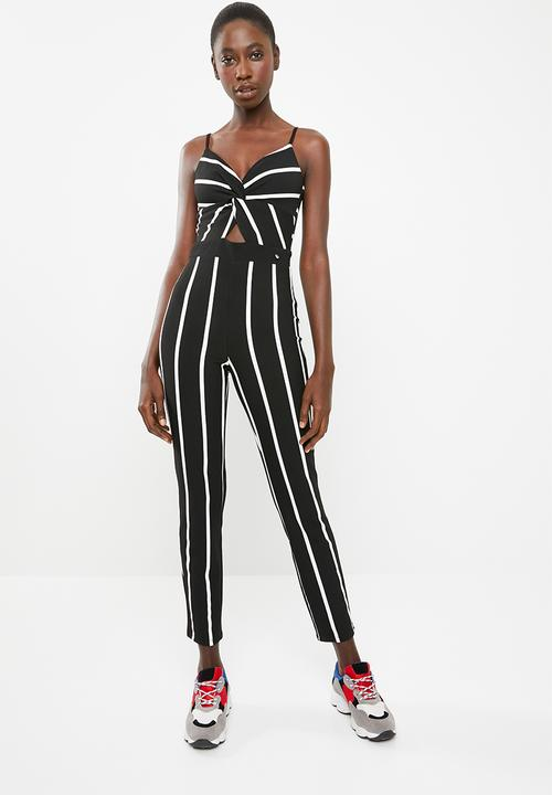 Stripe Jumpsuit Black White Sissy Boy Jumpsuits Playsuits