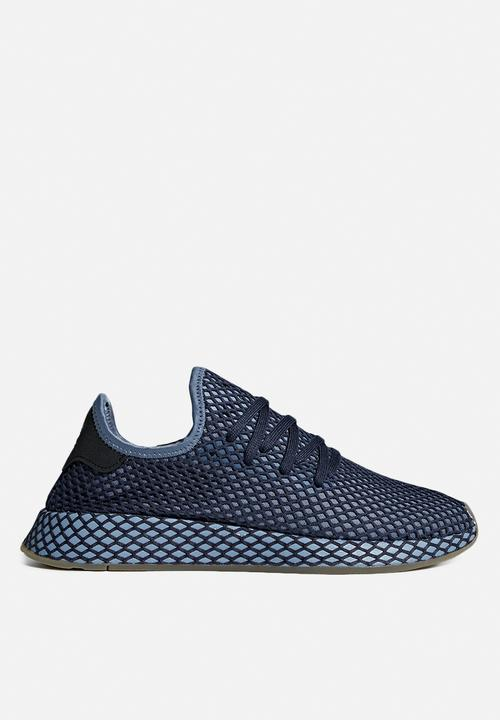 a5949360cafe adidas Originals Deerupt Runner - B41772 - Dark Blue Ash Blue adidas ...
