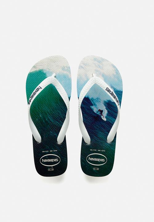 8e6b2158622430 Hype - white   blue Havaianas Sandals   Flip Flops
